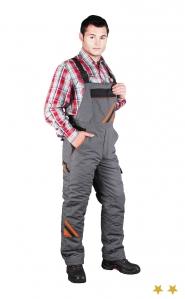 PRO-M - Spodnie ogrodniczki ocieplane